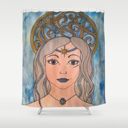 Keeper of the night sky Shower Curtain
