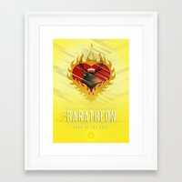 westeros Framed Art Prints featuring Stannis Baratheon Sigil III (house words) by P3RF3KT