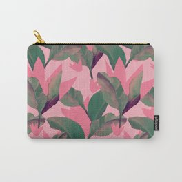 Retro Luxe Lilies Pink Carry-All Pouch