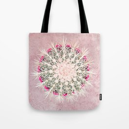 Cactus mandala - blush concrete Tote Bag