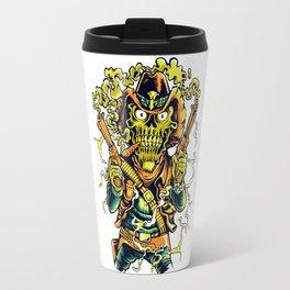 Western Cowboy Skull - Golden Fizz Travel Mug