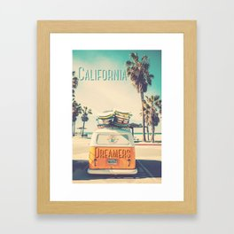California dreamers Framed Art Print