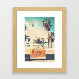 California dreamers Framed Art Print