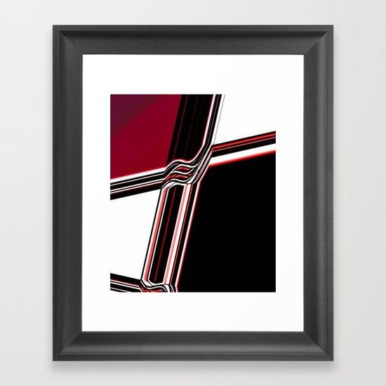 Barred Framed Art Print