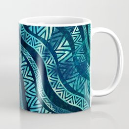 Wavy Tribal  Ethnic Boho Pattern Coffee Mug
