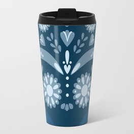 Blue Sugar Skull Travel Mug