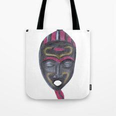 African Mask Tote Bag