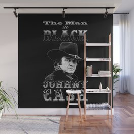 The Man In Black -  Johnny Cash Wall Mural