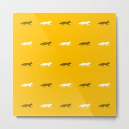 Yellow Foxes! Metal Print
