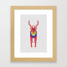 Animal Mardi Gras: Stag Framed Art Print