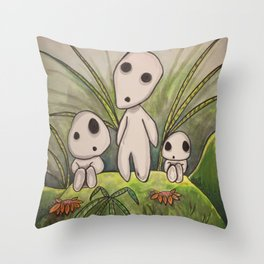 forest spirits Throw Pillow