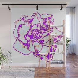 Line print flower Wall Mural