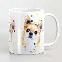 chihuahua Mugs featuring Chihuahua by Slaveika Aladjova