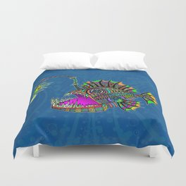 Electric Angler Fish Duvet Cover