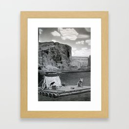 IN THE GRAND CANYON Framed Art Print