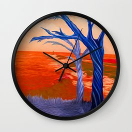 """Wind Whispers & Wave Lullabies"" Wall Clock"
