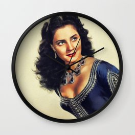 Jody Lawrance, Vintage Actress Wall Clock
