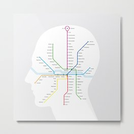 Subway map of mind and soul Metal Print