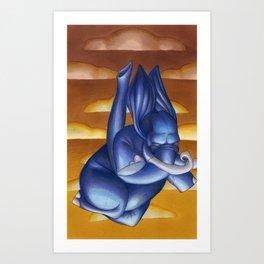 Falling Blues Art Print