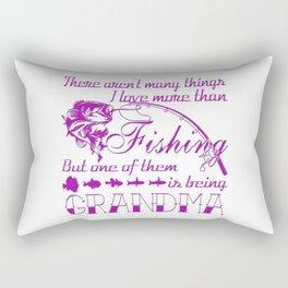 Fishing Grandma Rectangular Pillow