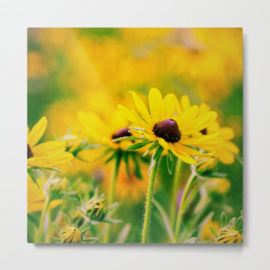 yellow Metal Print