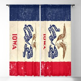State of Iowa flag - vintage look Blackout Curtain