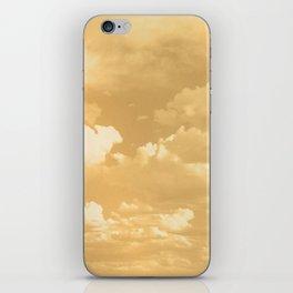 Clouds in a Golden Sky iPhone Skin