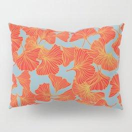 Tumbling Ginkgo Red Pillow Sham