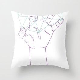 severed magic hand Throw Pillow