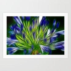 Painted blue Art Print