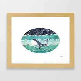 Wishing Whale Framed Art Print