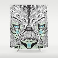 kit king Shower Curtains featuring Kit Mambo by eos vector