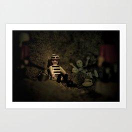 I' m alone in the dark Art Print