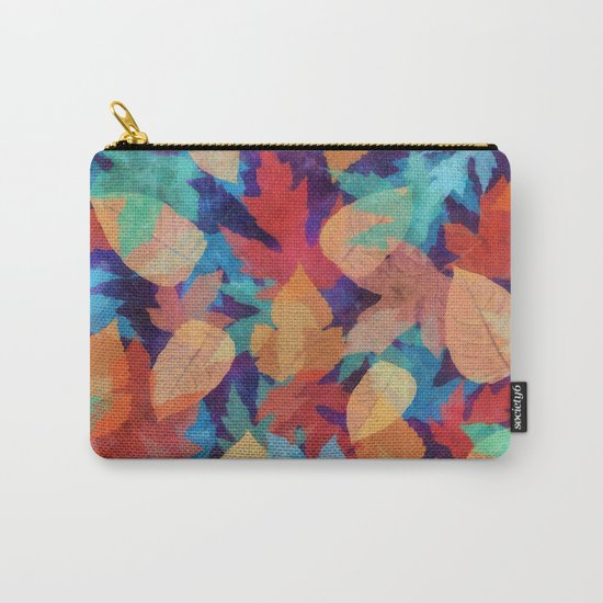 Colorful fallen leaves Carry-All Pouch