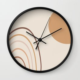 Greeting the sun #abstractart #digitalart Wall Clock
