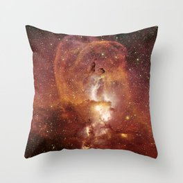 Star Clusters Space Exploration Throw Pillow