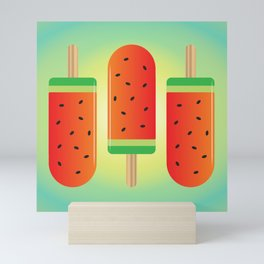 Watermelon Ice Lollies Mini Art Print