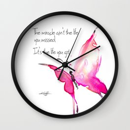 The Miracle by Kathy Morton Stanion Wall Clock