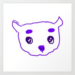 purple puppy Art Print