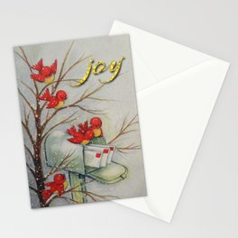 Vintage Christmas Birds Stationery Cards