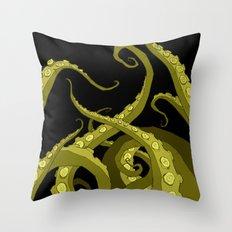Subterranean Green Throw Pillow