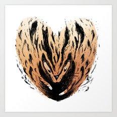 Tyger Heart Art Print