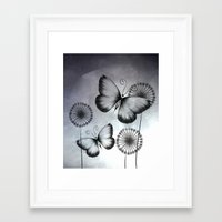 butterflies Framed Art Prints featuring Butterflies by LouJah