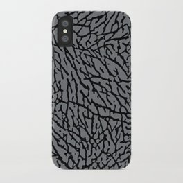 Cement Elephant Print iPhone Case