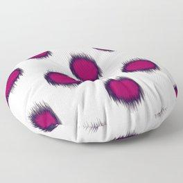 Ikat Dots Raspberry Plum Floor Pillow