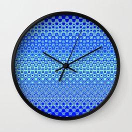 Mosaic Blue Wall Clock