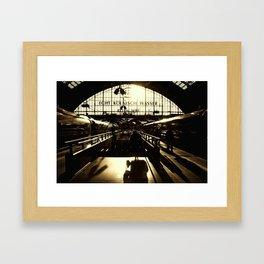 Railway Station Cologne (monochrom) Framed Art Print