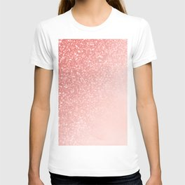 She Sparkles Deep Rose Gold Pastel Pink Luxe Geometric T-shirt