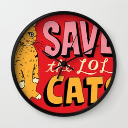 Save the LOL Cats Wall Clock