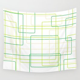 Green Line Pattern Wall Tapestry